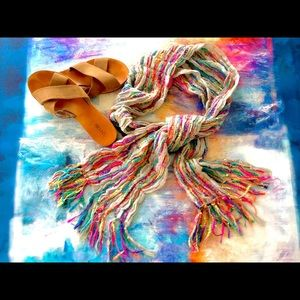Colorful Boho Fringe Summer Scarf